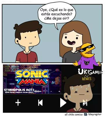 Tercer meme y es la mejor musica de Sonic Mania