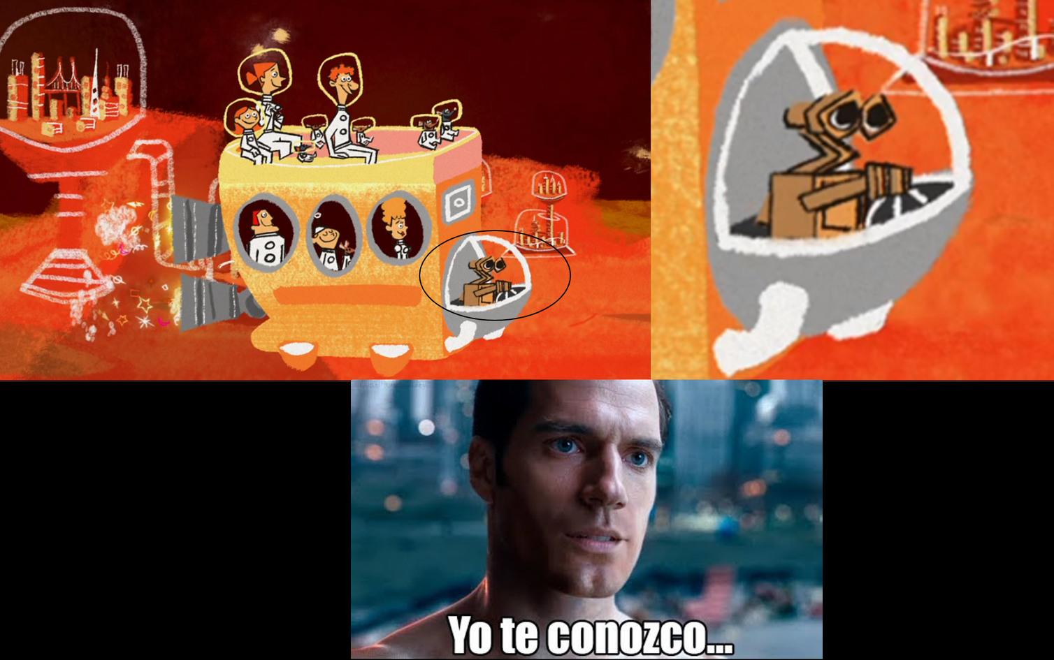 WALL-E EN EL CORTO DE RATATOUILLE - meme