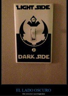 El lado oscuro o luminoso - meme