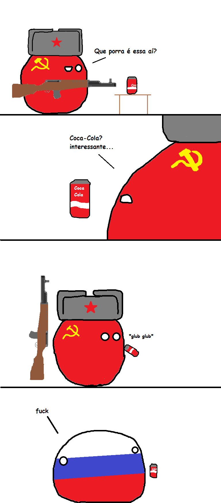 Os efeitos da coca cola - meme