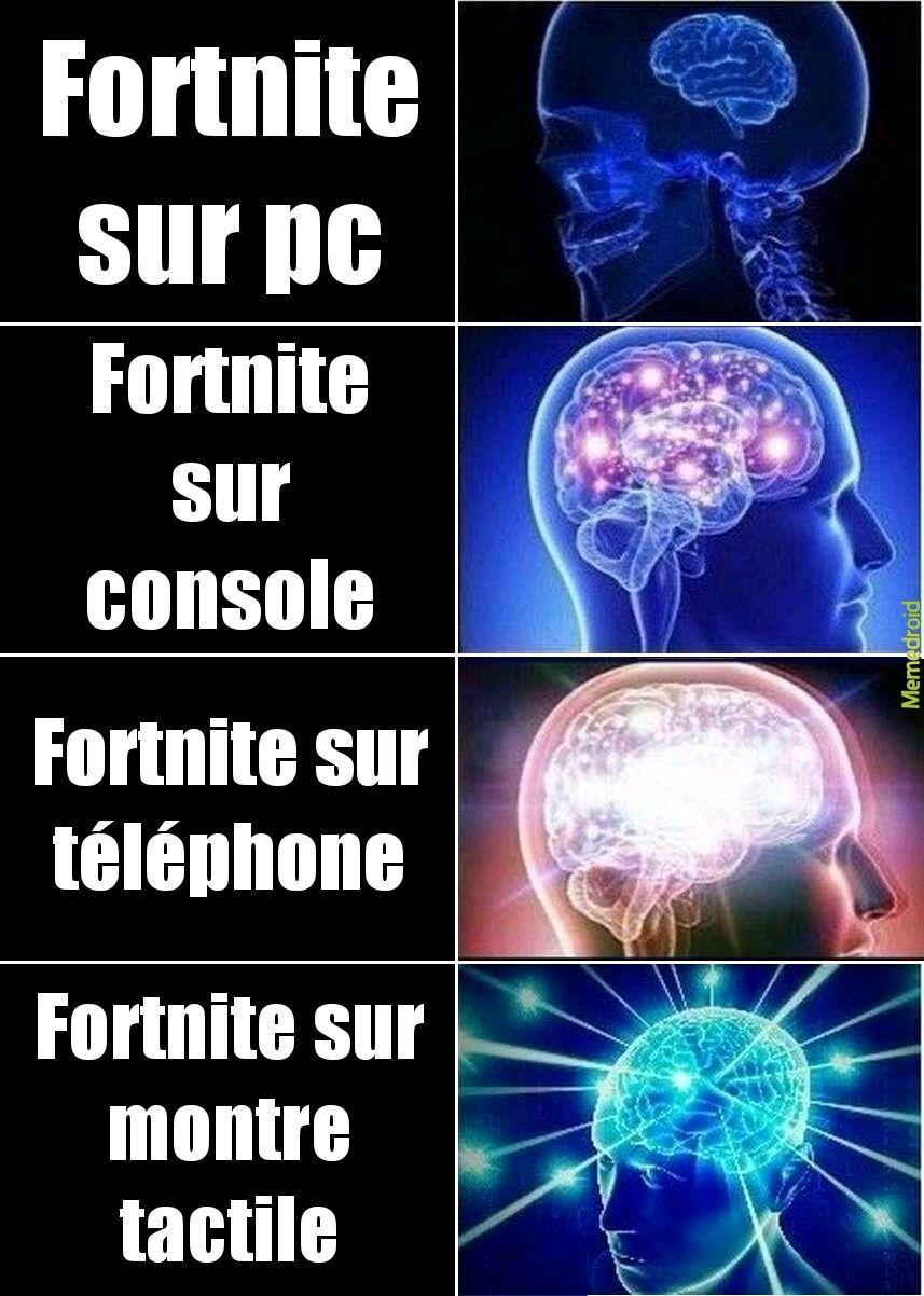 Platforme de fortnite - meme