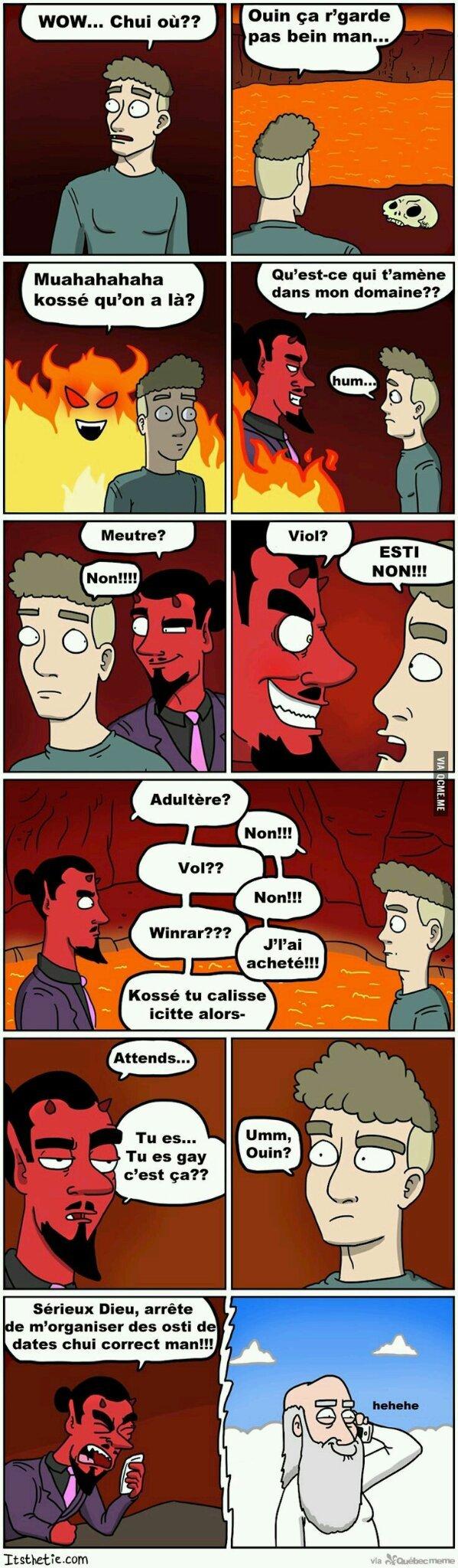 Lgbt + satan - meme