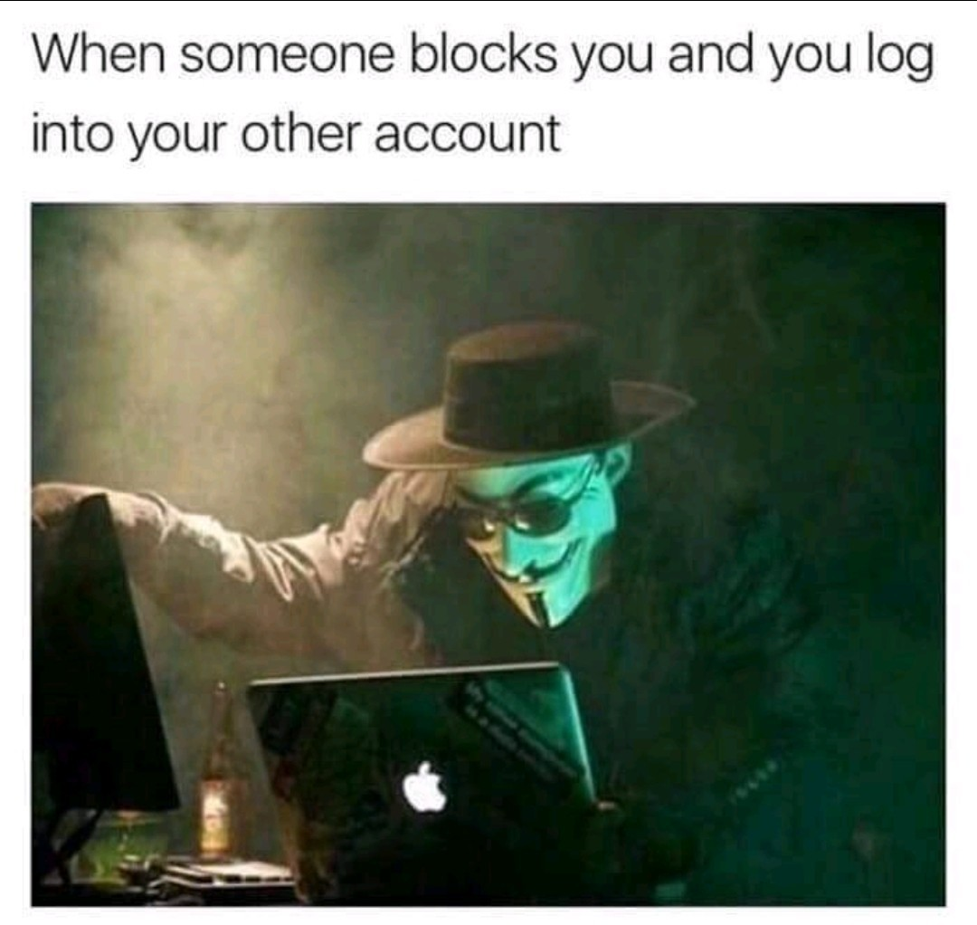 Can't ban me - meme