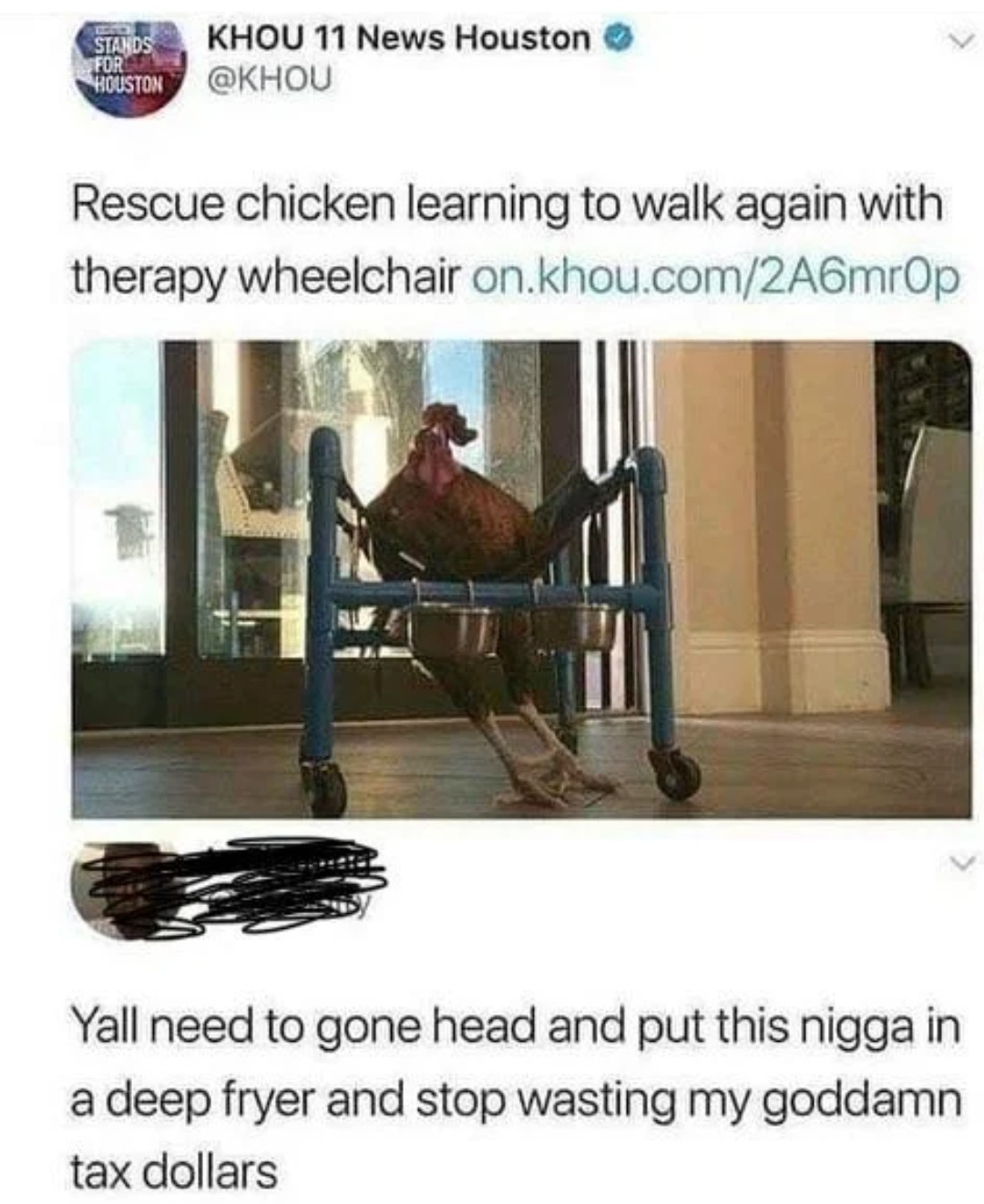 Stop clucking around - meme