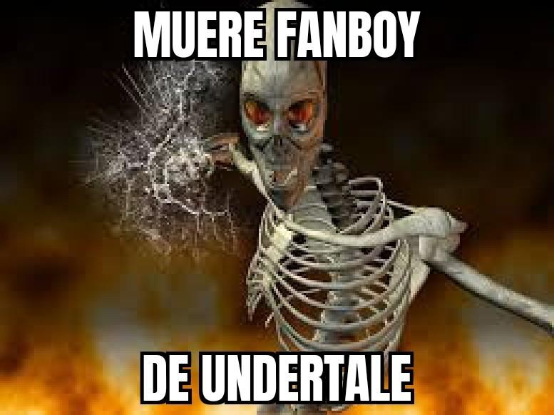 Un capo el esqueleto - meme