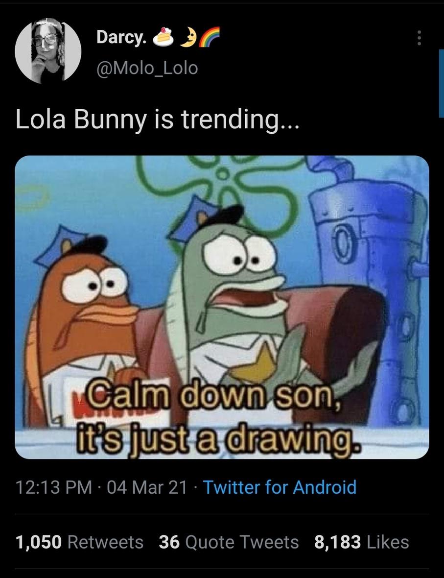 Poor lola the bunny - meme