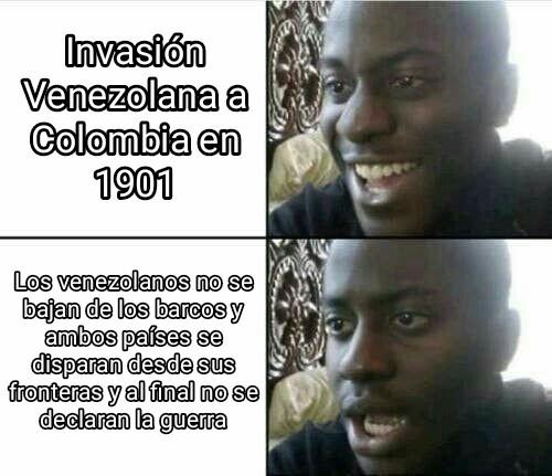 Por eso venezuela no ha tenido guerras como tal - meme