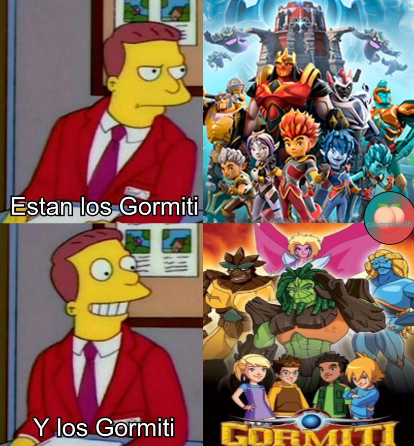 De pequeña miraba mucho Gormiti, una pena que los han cambiado - meme