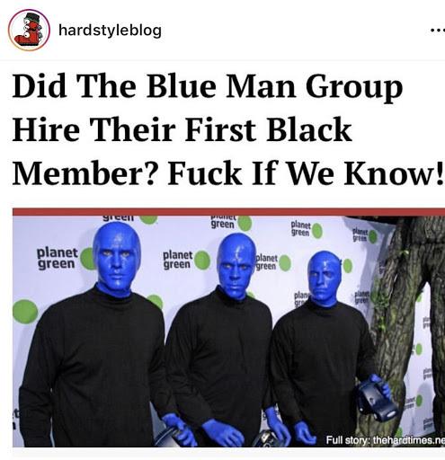 Blue man group - meme