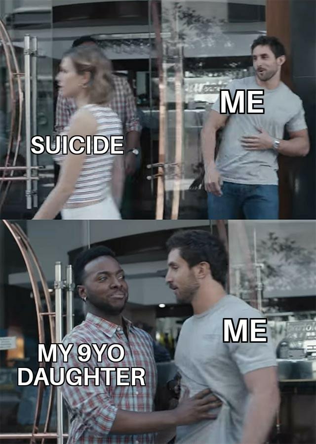 Suicide cockblock - meme