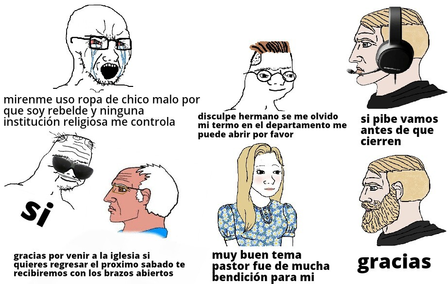 La iglesia - meme