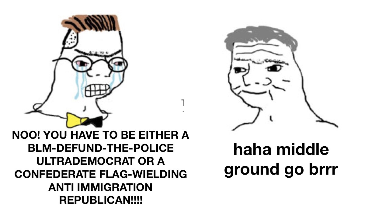 Gnods in a middle ground - meme