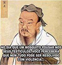 Sem violência - meme