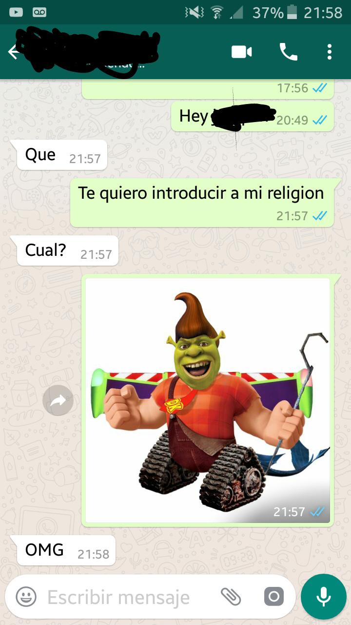 La mejor religión del mundo - meme