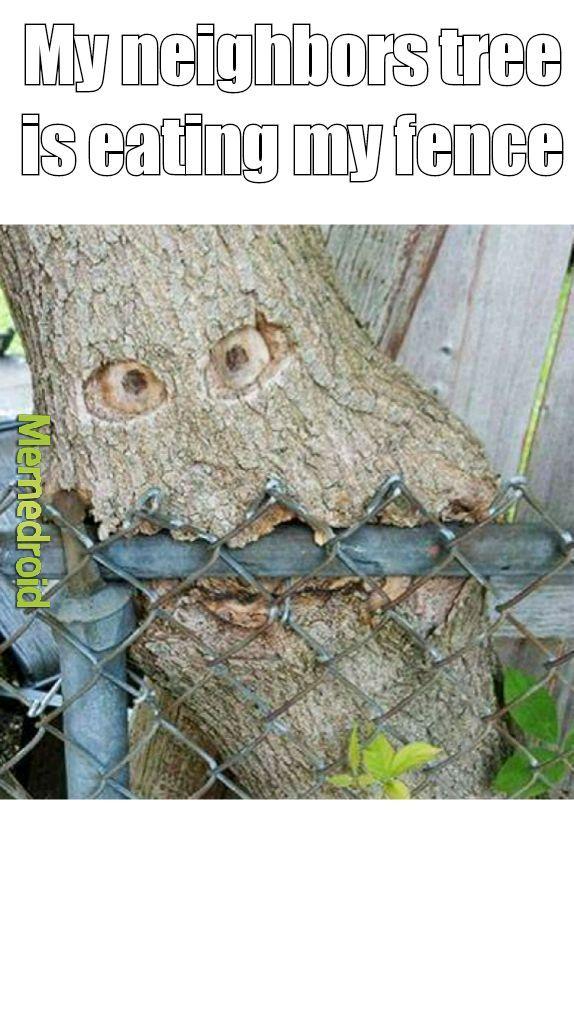 Fence monster - meme