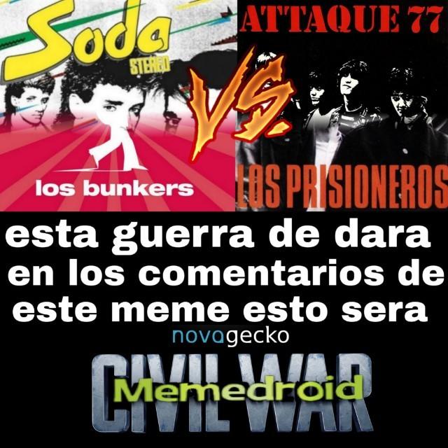 ( den su opinion hacerca de estas bandas chilenas/argentina en los comentarios ) - meme