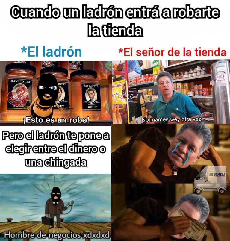 El señor de la tienda - meme