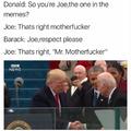 He's in office