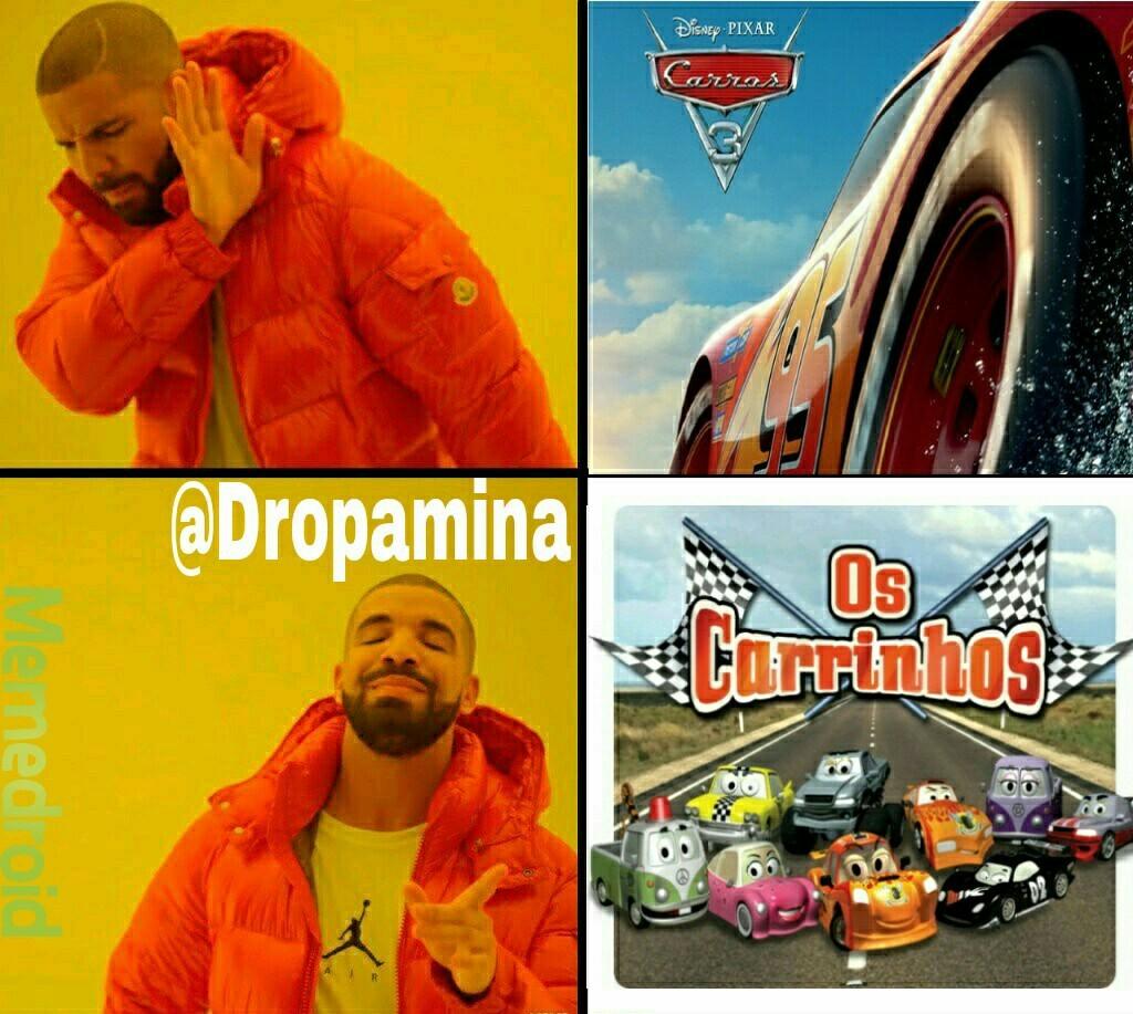 Os carrinhos>>>>>>>>>>Carros 3 - meme