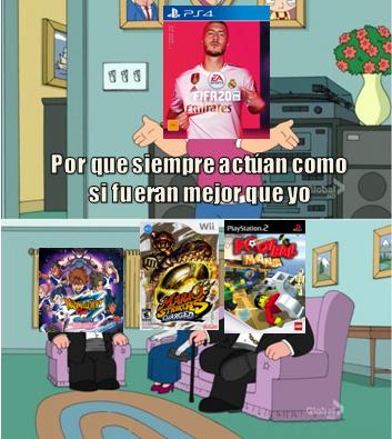 Admitelo, inazuma eleven mario strikers y lego football mania son mejores que fifa 20 - meme