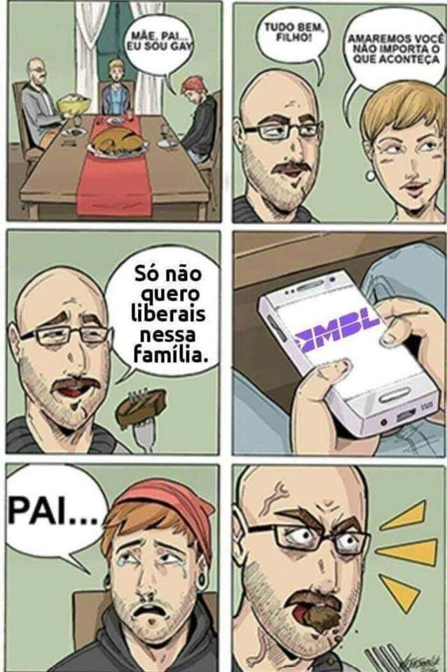 Liberal é só na putaria, tá ok?! - meme