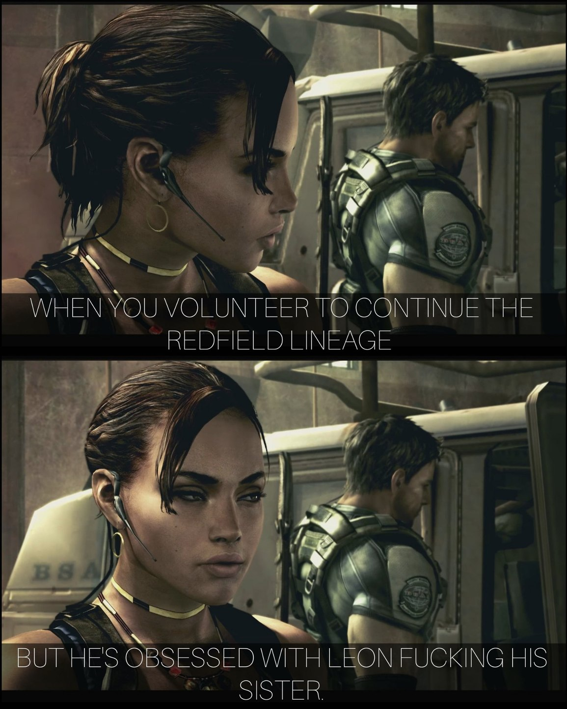 Sheva is my favourite RE female. - meme