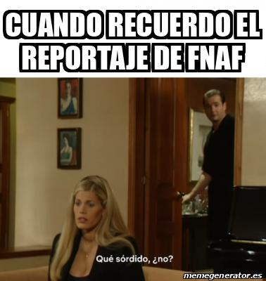 Re feo el reportaje - meme