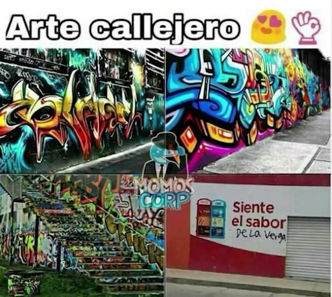 Artistas callejeros... - meme