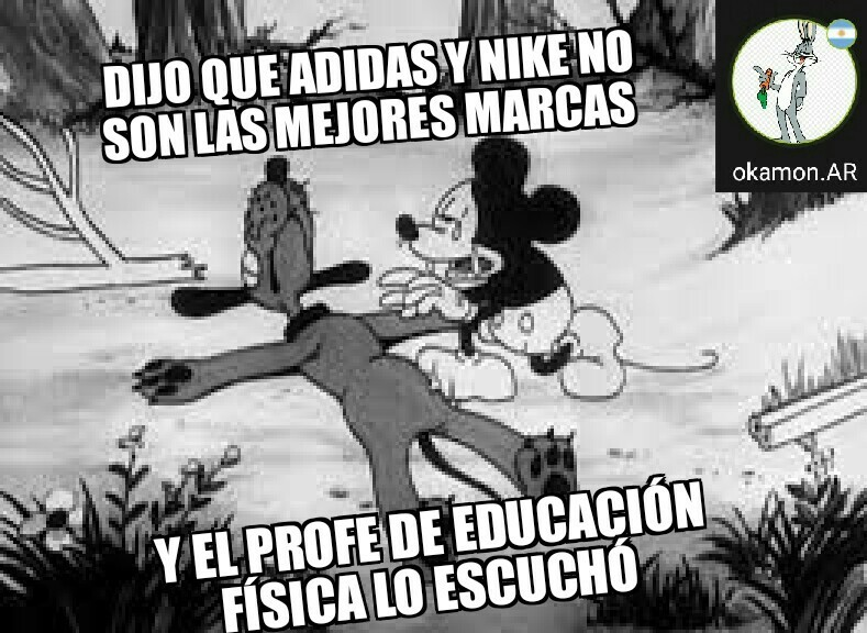 Adidas es = a nike - meme
