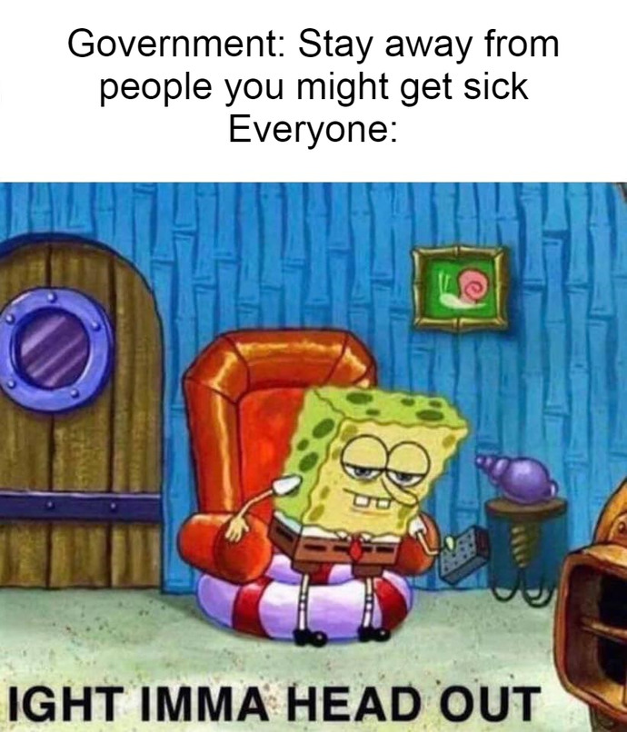 Stay away - meme