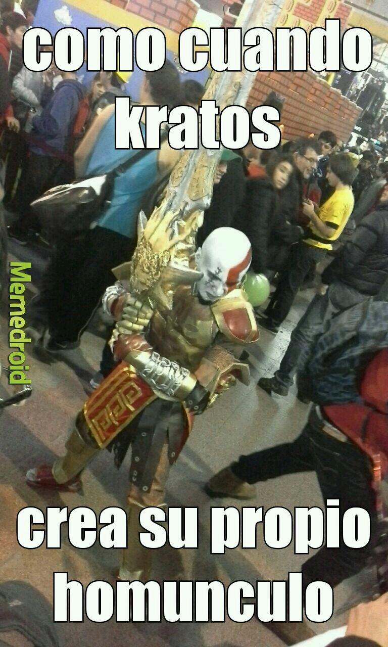 kratos humunculo - meme