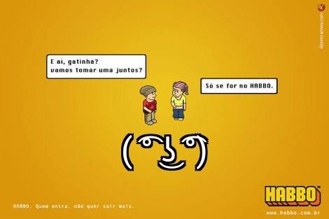 Mensagens subliminares no habbo ( ͡° ͜ʖ ͡°) - meme