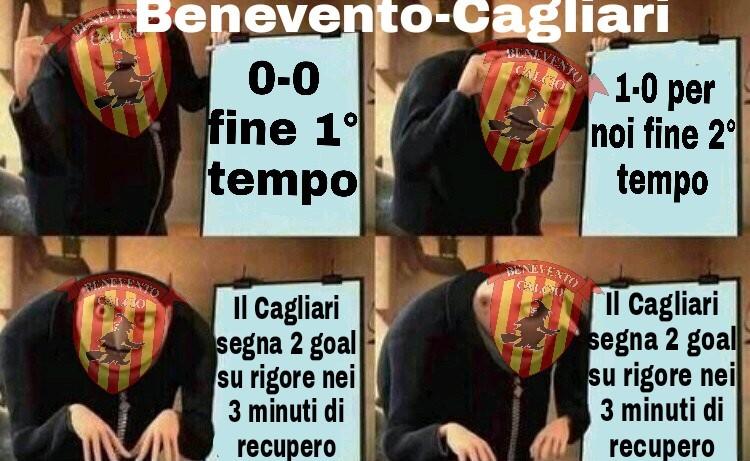 Bad luck Benevento - meme
