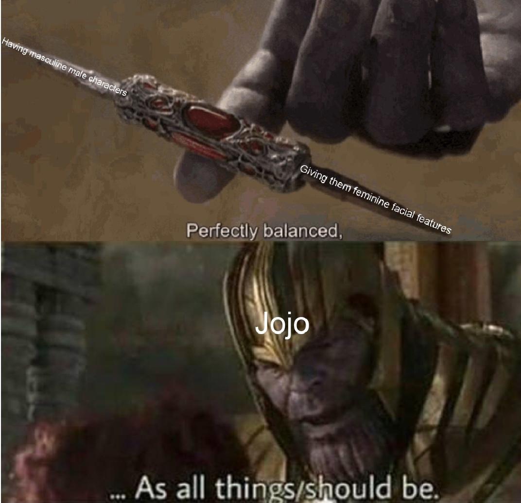 Jojo masculinity - meme