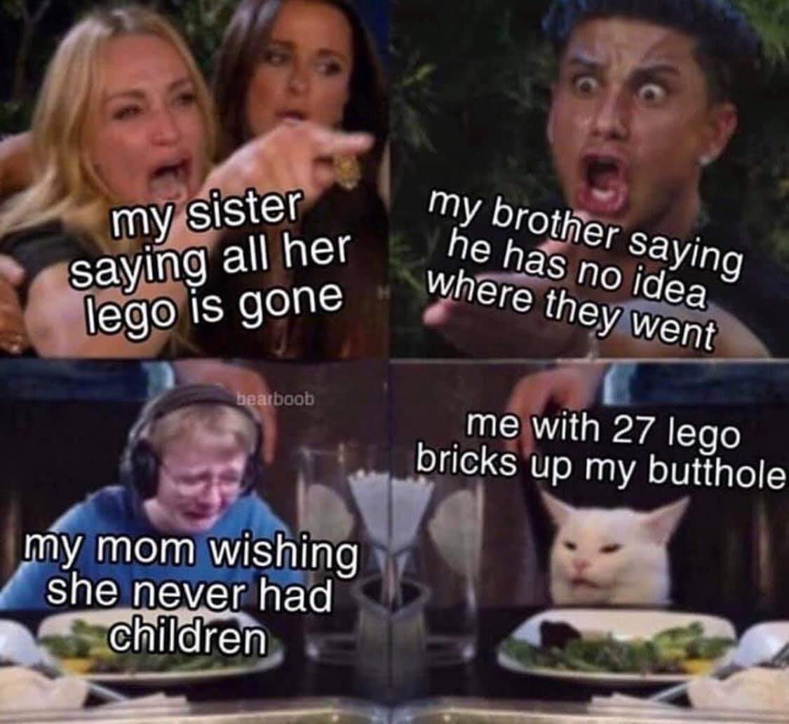 I could fit a lego star fighter up my ass - meme