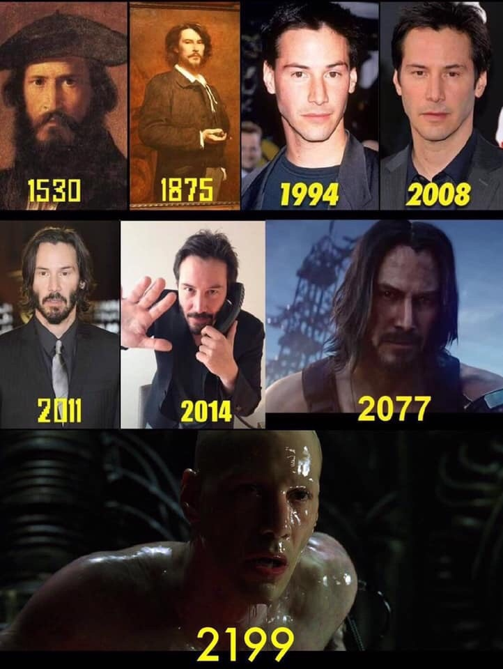 Keanu Reeves through the ages - meme