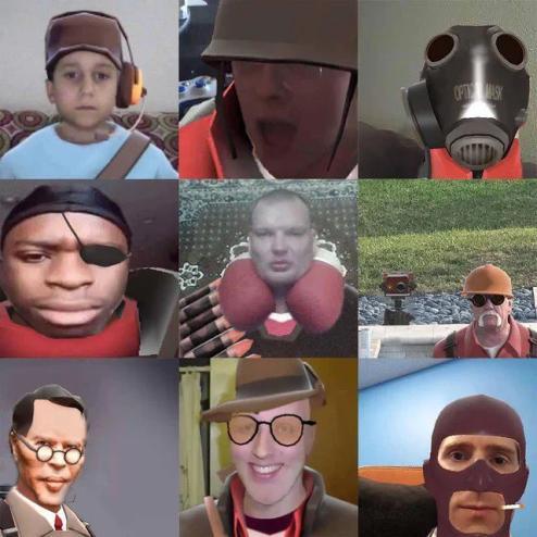 les fameux personnages - meme