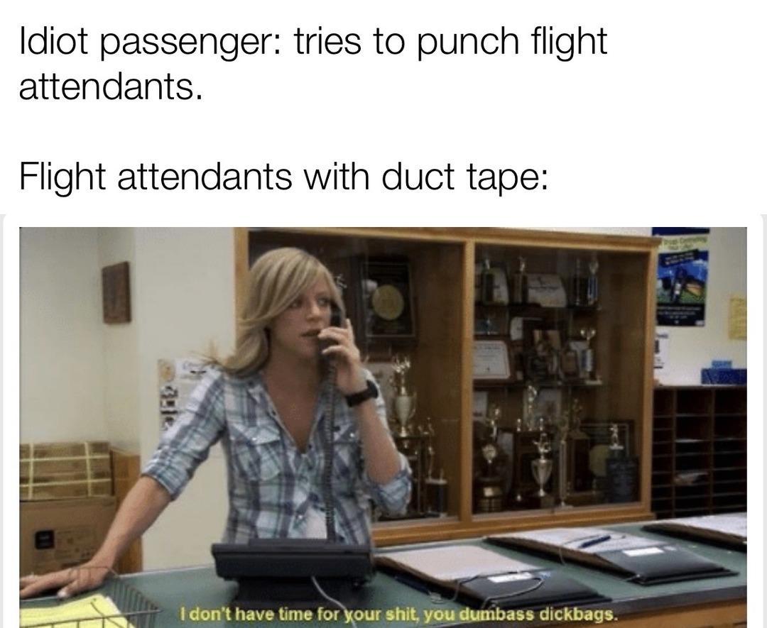 Fly the friendly-ish skies? - meme