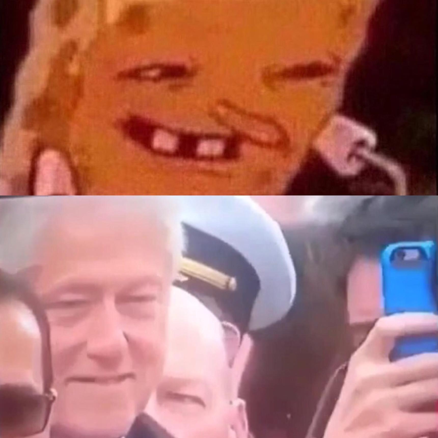Bill felt like eating Michelle Obamas Krabby Pattie - meme