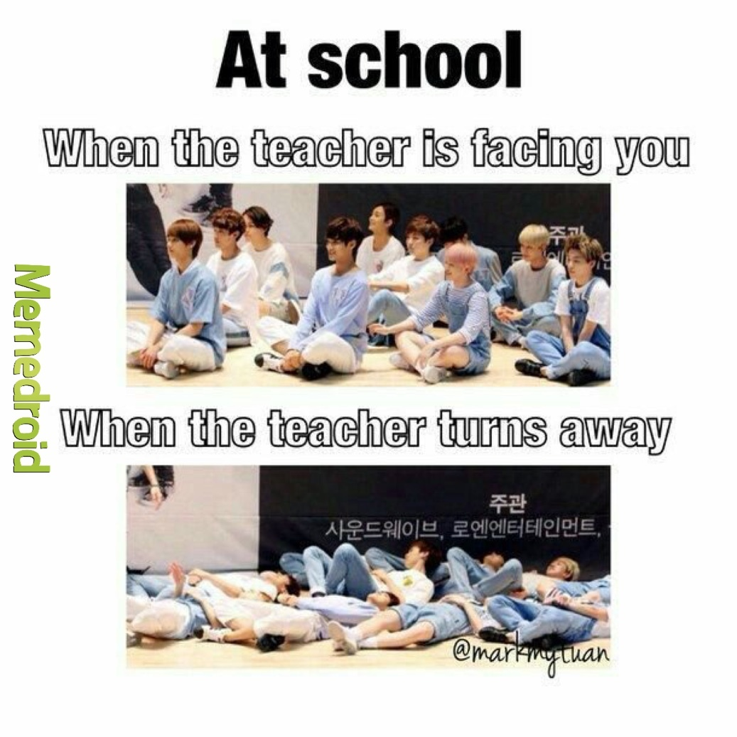 At School - meme