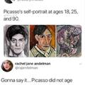 Picasso self-portraits through the years
