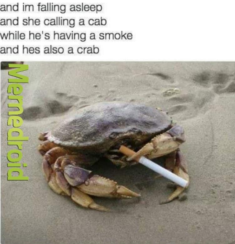 he's a crab - meme