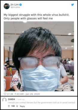 I wear glasses, and I can so relate to this. - meme