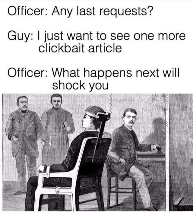 One last clickbait article please - meme