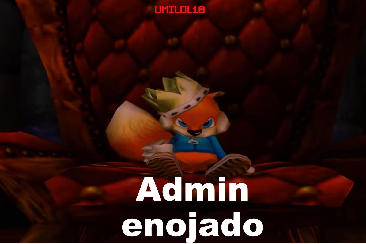 Admin Enojado - meme