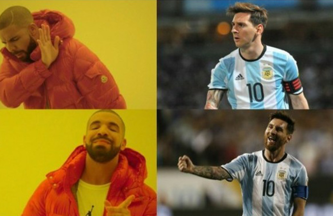 Messi con barba - meme