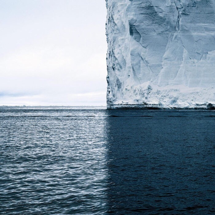 This iceberg's shadow divides the world into 4 perfect quadrants... - meme