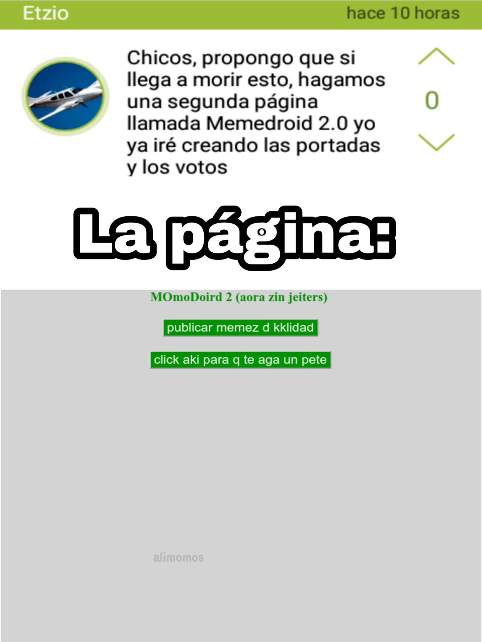 aliMOMAZOS - meme