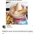dipping fries in milkshakes, yay or nay?