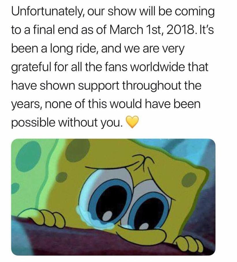 Say goodbye, Spongebob. - meme
